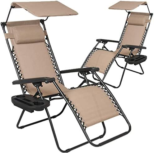 Patio Chairs Zero Gravity Chair Lounge Chair 2Pack Recliner