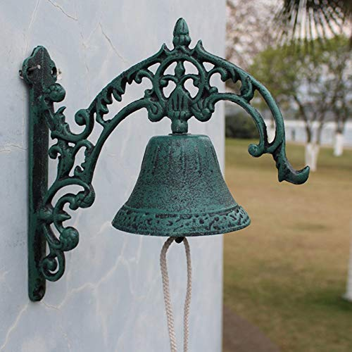 sungmor resistente para colgar en la pared de hierro fundido campana, Manual de campana decorativa diseño de Bell, Arabesco...