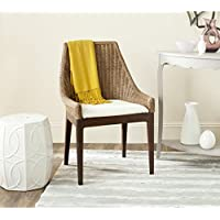 Safavieh Home Collection Franco Sloping Chair, Brown