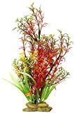 SPORN Aquarium Decoration, Ludwigia Plant Green/Red 8''