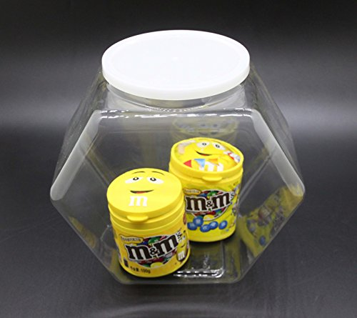 FixtureDisplays 1 Gallon Plastic Candy Bin w/ Lift Off Lid, Set of 12 - Clear 19485 by FixtureDisplays