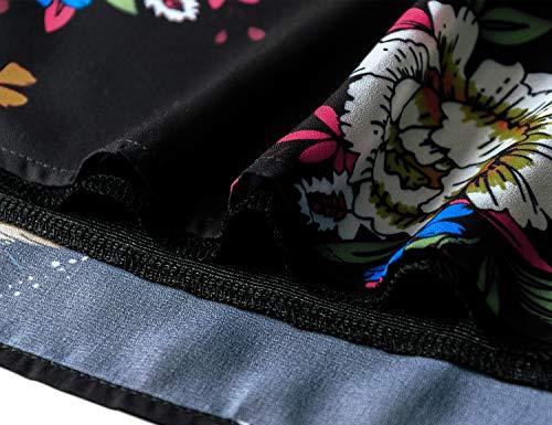 5bdad61c097ce ... Luranee Flutter Sleeve Tops for Women, Ladies Hawaiian Clothing Fancy V  Neck Dress Chiffon Blouses ...