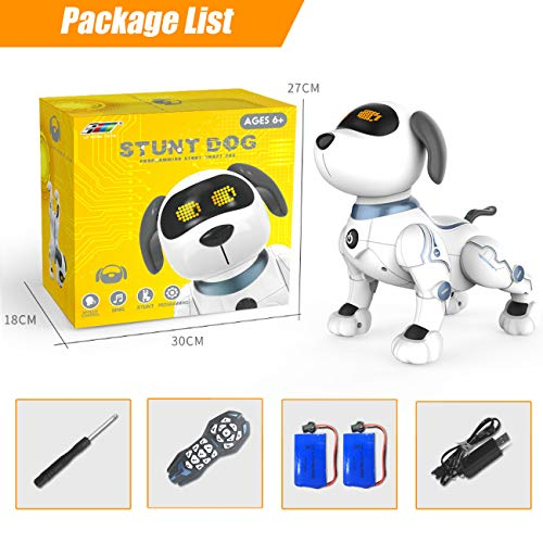 Remote Control Puppy Robot for Kids, Wireless RC Puppies Interactive Smart Toy, Educational Electronic Robotic Pet Dog That Walk, Bark, Sing, Dance for Boys and Girls Age 6, 7, 8, 9, 10