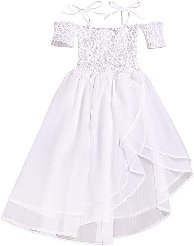 Darringls Vestido para niñas, Vestido Vintage de Niñas Años 50 ...
