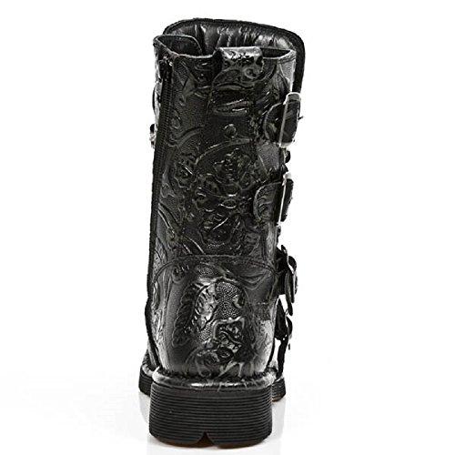 New Alle Leder Black aus M Rock S43 Stiefel 1473 Iff7rx
