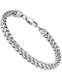 6mm Wide Curb Chain Bracelet for Men Women Stainless Steel High Polished,8.5-9.1""