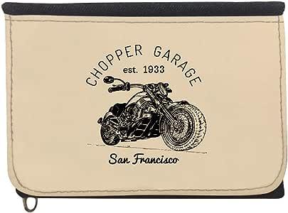 محفظة بتصميم دراجة نارية، قماش جينز