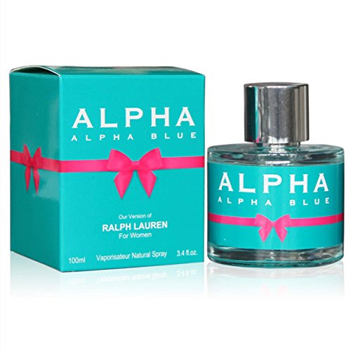 - ALPHA BLUE, Our Inspiration of RALPH LAUREN, Eau de Parfum Spray for Women, Perfect Gift, Colorful Floral Fragrance, Daytime & Casual Use, for all Skin Types, 3.4 Fl Oz