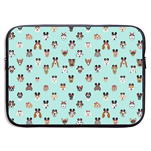 Dogs Heads Dog Theme Park Vacation Laptop Sleeve Case Bag Cover for Apple MacBook/Asus/Acer/Samsung/DELL/HP/Lenovo/Sony/RCA Computer 13 -