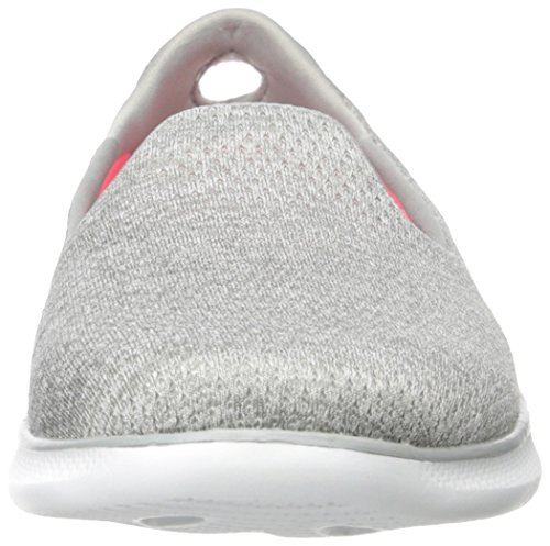 Performance Lite Go Step Shoe Slip Women's Skechers Gray on Heather Walking RIxSwdnqE