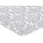 Sweet Jojo Designs Fitted Crib Sheet for Elizabeth Baby/Toddler Bedding - Damask Print
