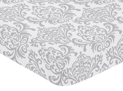 Elizabeth Crib Bedding (Sweet Jojo Designs Fitted Crib Sheet for Elizabeth Baby/Toddler Bedding - Damask Print)