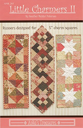 Little Charmers II Table Runner Patterns by Anka's, used for sale  Delivered anywhere in USA