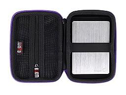 BUBM Electronics Accessories Organizer Travel Carrying Case Digital Storage Bag EVA Series for Hard drive(EHD-L,Purple)