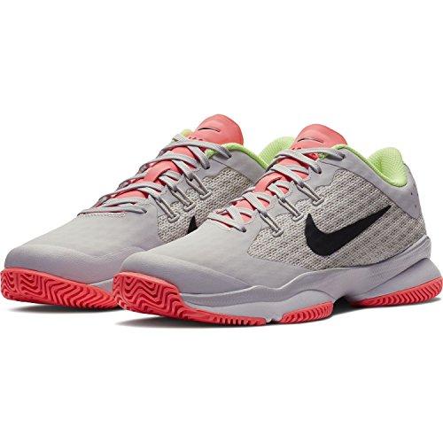 Nike Damen Air Zoom Ultra Tennisschuhe US Vast Grey / Schwarz / Weiß / Volt Glow