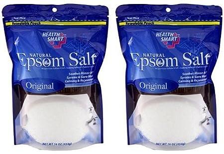 Natural Epsom Salt (Original) 16oz Health Smart