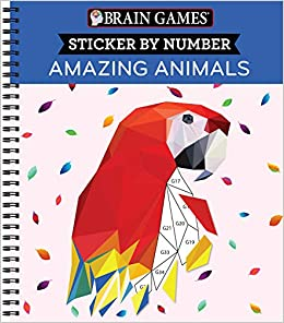 Amazon Com Brain Games Sticker By Number Amazing Animals