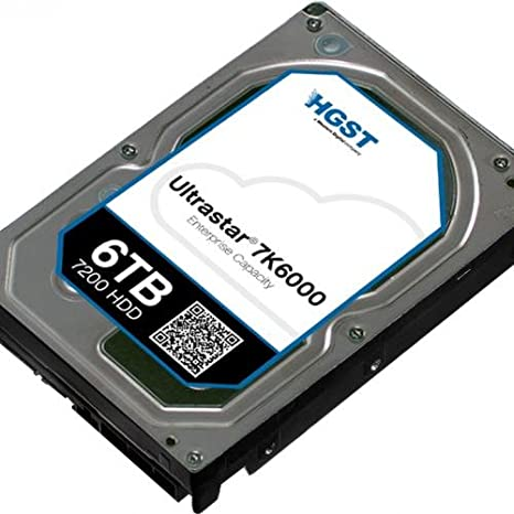 HGST, a Western Digital Company ULTRASTAR 7K6000 6000GB 7200RPM SAS 4KN ULTRA ISE 128MB Cache 3.5-Inch Internal Bare or OEM Drives 0F22790 <span at amazon