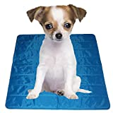 """Lovespot Phase Change Material Pet Dog Self Cooling Mat Pad Keep 7 Degrees Cooler Perfect for Beds Couches Car Seats Pet Beds and Kennels Blue (24"""" X 35"""")"""