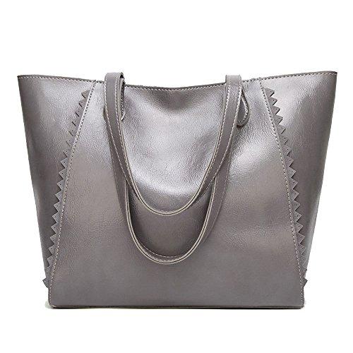 Sacs Sac De tout à De Shopping L'huile Fourre Cire Sac Femmes La à Sauvage Main Grey Simple Des Mode rOZzHrWwq