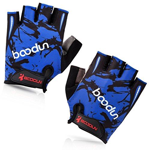 BOODUN-Shock-Absorbing-Foam-Pad-Breathable-Half-Finger-Cycling-Gloves