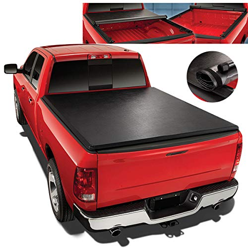 Chevy Silverado Snap - For 07-14 Chevy Silverado/GMC Sierra 6.5Ft Short Bed Top Soft Vinyl Roll-Up Tonneau Cover