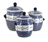 Manufaktura Blue Rose Polish Pottery Tulip Canister Set