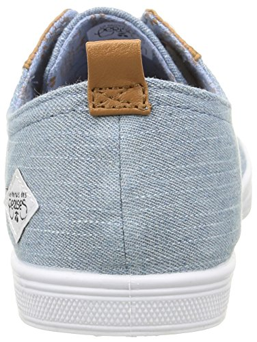 Le Temps des CerisesLtc Basic 02 - Zapatillas de deporte, Mujer Azul - Bleu (Fancy Chambray)