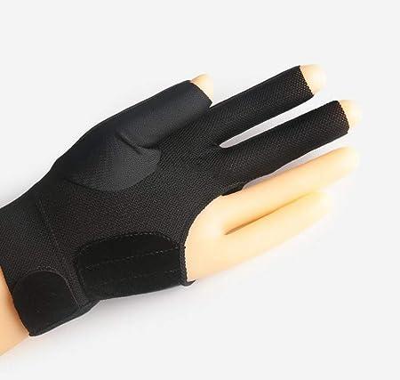 AMZH Guante de Tres Dedos de Billar,Material de Silicona de Fibra de Carbono,Hay Modelos para diestros y Zurdos,Transpirable Guantes de Billar (Azul/Negro): Amazon.es: Hogar