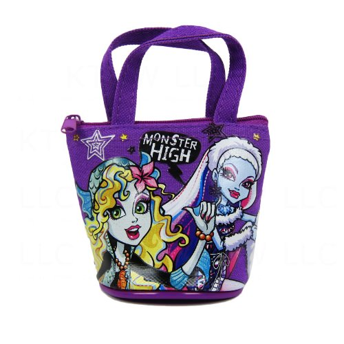 (Officially Licensed Monster High Mini Handbag Style Coin Purse - Lagoona Blue and Abbey)