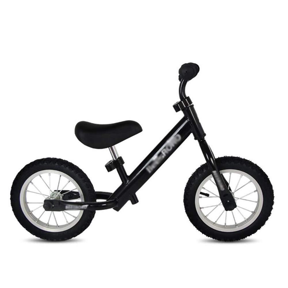 Bicicletta Senza Pedali Equilibrio Regolabile per Bici, Telaio Pneumatico in Acciaio al Carbonio, Sedile Confortevole, Primo Regalo di Compleanno (colore   Nero)