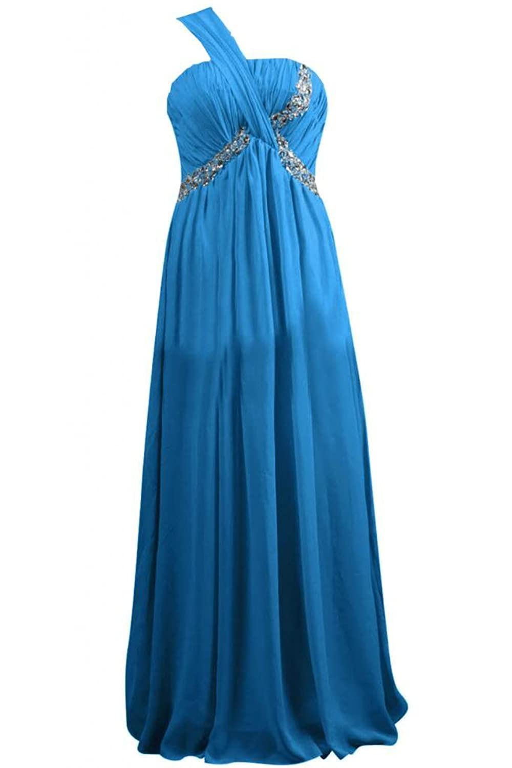 Sunvary 2015 Women Vintage Classical One Shoulder Long Pageant Gowns Prom Dress