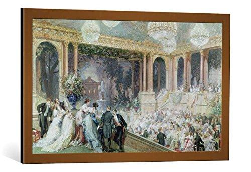 kunst für alle Framed Art Print: Henri-Charles-Antoine Baron Dinner at The Tuileries 1867