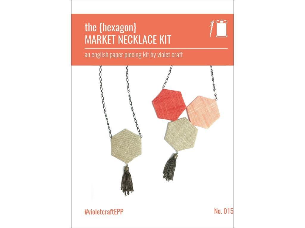purple Craft Market Market Market Necklace Kit Hexagon 0dfed7