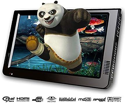 10 Pulgadas DVBT / DVBT2 y analógico/ATSC Mini Led HD portátil portátil TDT TV Digital para Coche Todo en 1 HDMI IN Soporte USB SD Tarjeta: Amazon.es: Electrónica