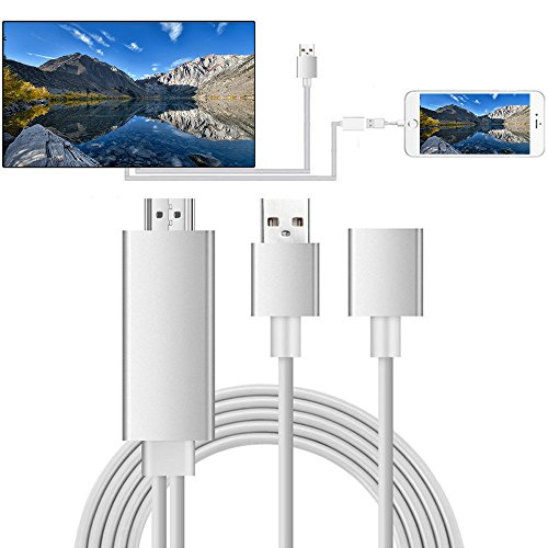 Lightning MHL to HDMI Cable Adapter, Mengyasi Plug & Play Lightning Digital AV to HDMI 1080P Cable Adapter for iPhone, iPad, Samsung Smartphone to Mirror On HDTV Projector