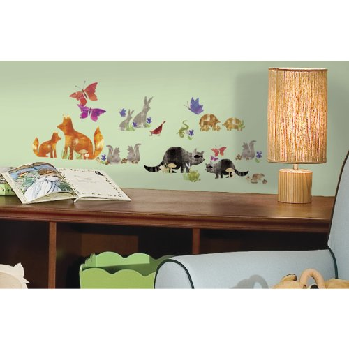 RoomMates RMK2643SCS Woodland Friends Peel and Stick Wall De