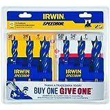 Irwin 1835090 Speebor Max Spade Bit Set, 3-Piece - Buy One, Give One