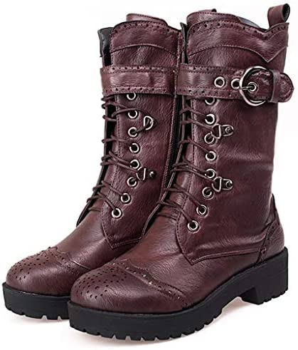 Padaleks Womens Winter Thick Warm Plush Snow Boots Flat Bottom Lace Up Short Ankle Booties Outdoor Footwear