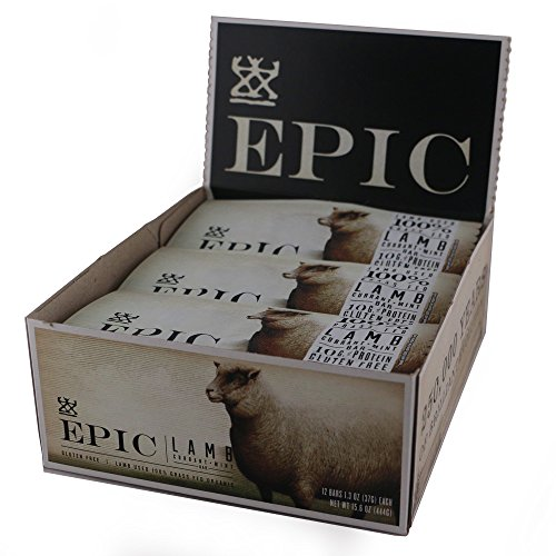 Epic All Natural Meat Bar, 100% Natural, Lamb, Currant & Mint, 1.3 ounce bar, 12 Count (Whole Pork)