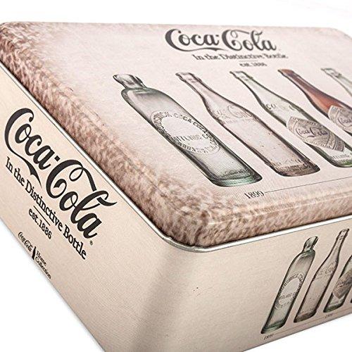 Eurowebb Caja met/álico Estilo Retro Coca-Cola sin Embalaje /Caja organizadora Alimentos / caf/é D/éco