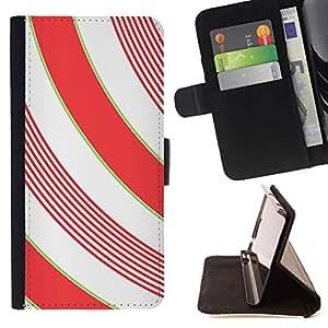 For Apple Apple iPhone 4 / iPhone 4S Case , Líneas blanca minimalista Girly- la tarjeta de Crédito Slots PU Funda de cuero Monedero caso cubierta de piel