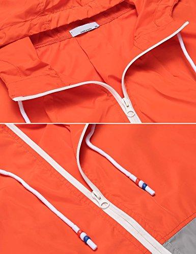 Meaneor Femme Meaneor Orange impermable Femme Manteau Meaneor impermable Manteau Orange wpSq44