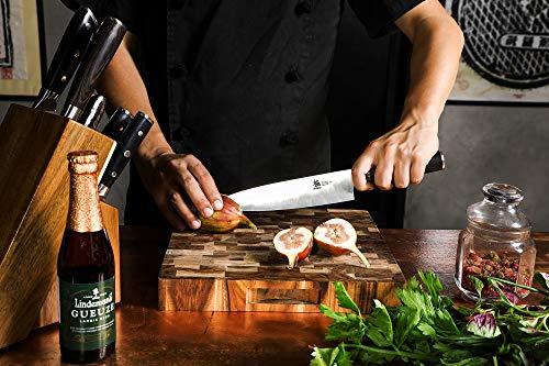 KYOKU Samurai Series - Chef Knife 8'' with Sheath Case - Japanese Steel - Ultra Sharp Blade Ergonomic Pakkawood Handle by KYOKU (Image #1)