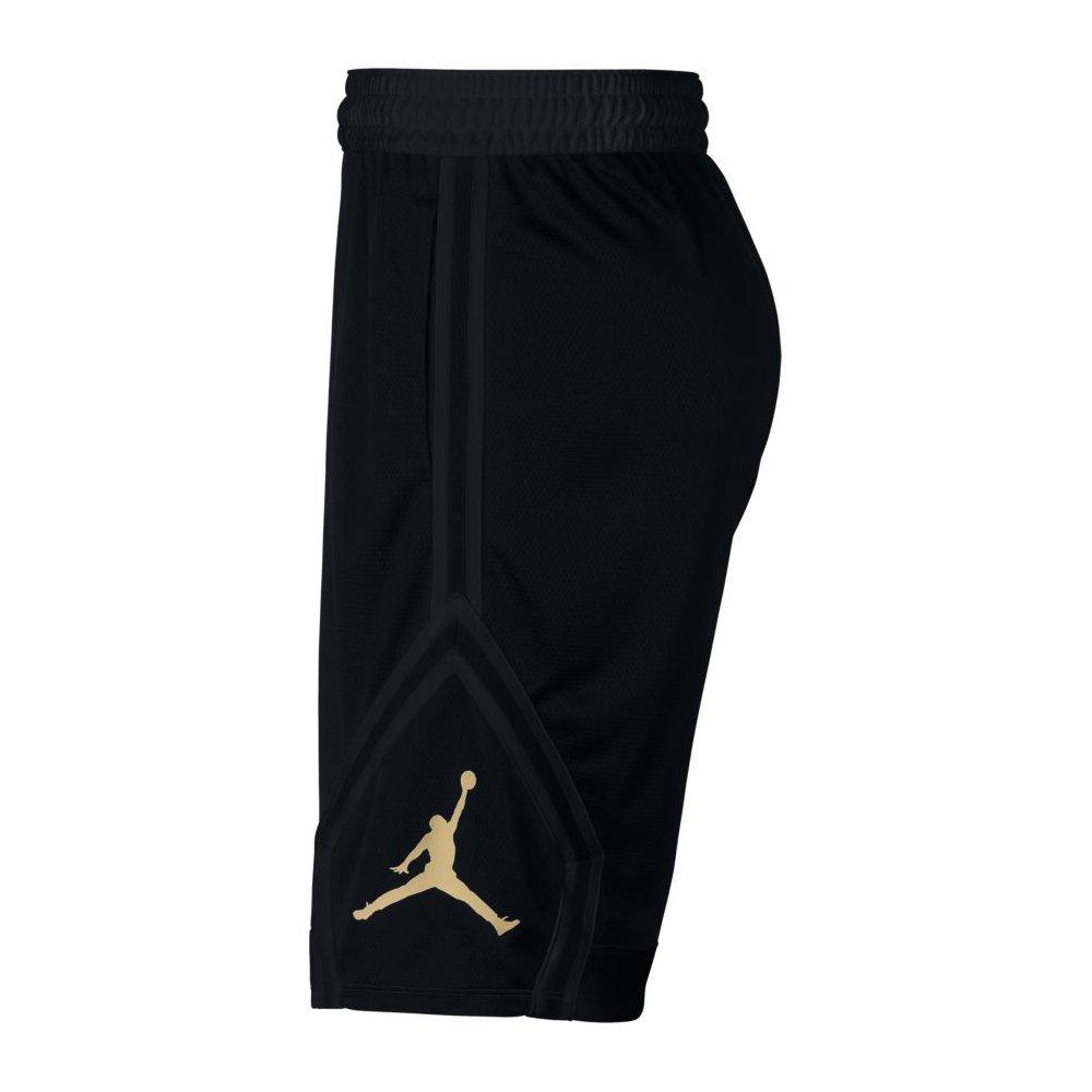 40b895e557b76 Shorts NIKE Mens Jordan Rise Diamond Basketball Shorts Black/Gold  887438-014 Size Large
