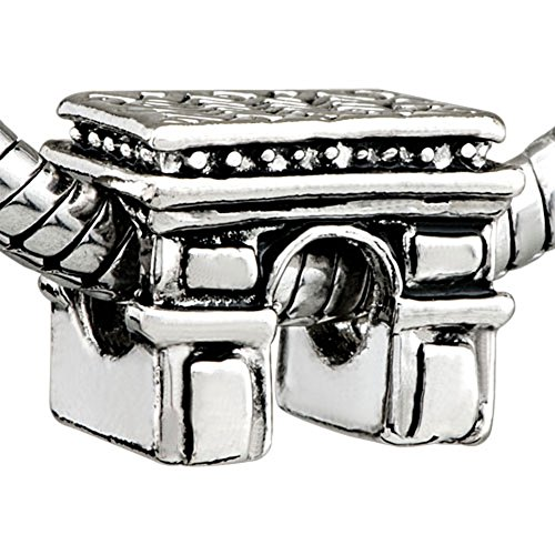CharmsStory Silver Plated Paris Triumphal Arch Beads Troll Charms