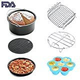 Appliances : Air Fryer Accessories 6pcs for Gowise Phillips and Cozyna or More Brand, fit all 3.7QT 5.3QT 5.8QT with 7 Inch Diameter by KINDEN