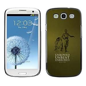 Caucho caso de Shell duro de la cubierta de accesorios de protección BY RAYDREAMMM - Samsung Galaxy S3 - Robots unbent