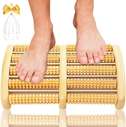 Dual Foot Massager Roller Acupressure