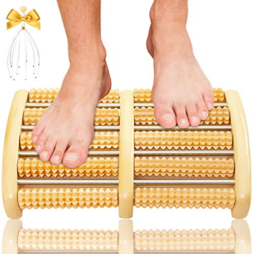 Christmas Gifts, Dual Foot Massager Roller, Massage Gifts for Women, Men, Dad, Mom, Grandma, Grandpa, Relaxation Foot Pain, Plantar Fasciitis, Stress Relief, Original Shiatsu Acupressure/Relax Gift